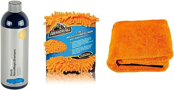Koch Chemie Nano Magic Shampoo Waschhandschuh Trockentuch Orange Baby Xl Auto