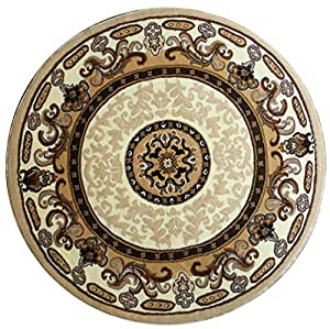 Traditional round area rug design kingdom d for Traditional kitchen rugs