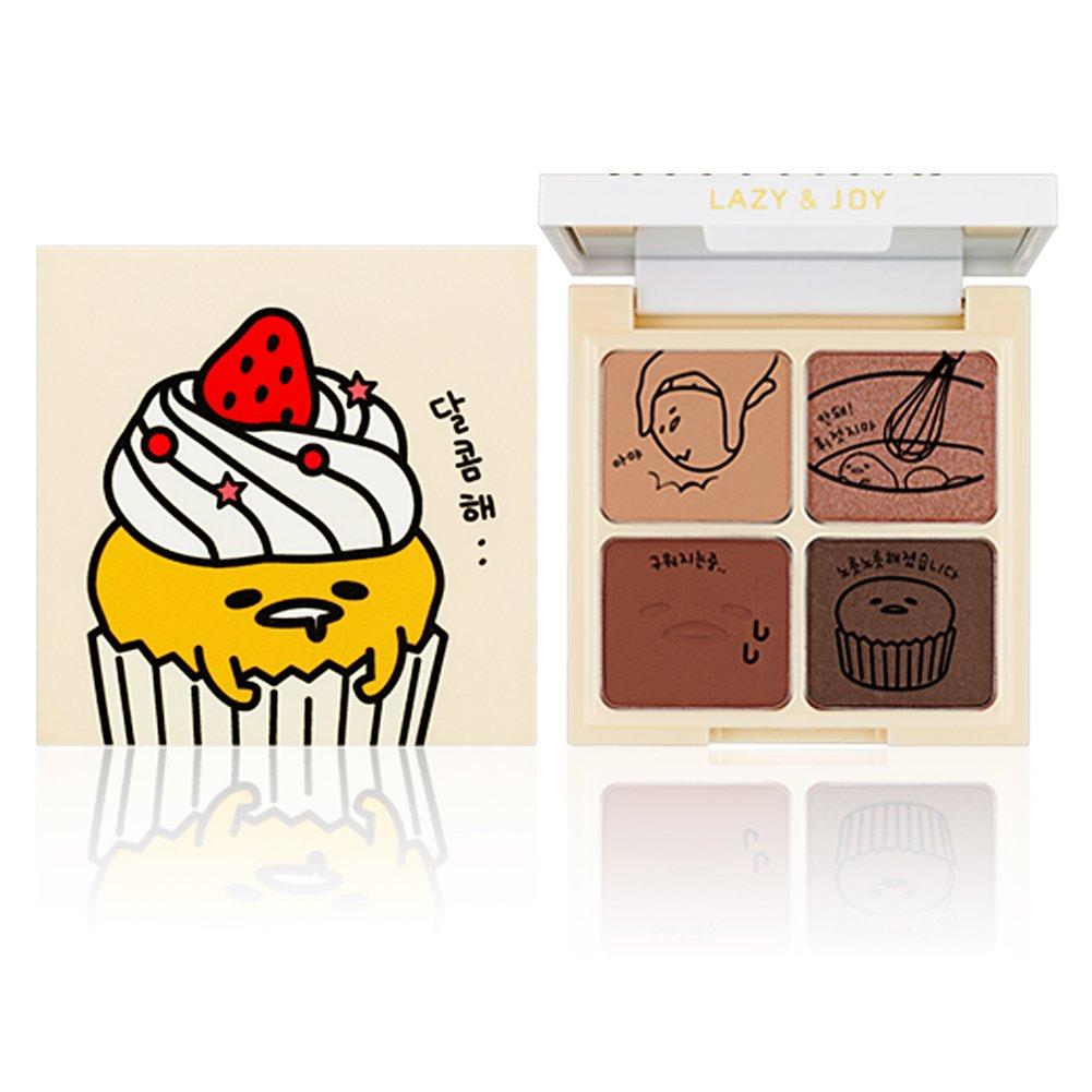 [Holika Holika] Lazy & Joy Gudetama Cupcake Eye Paltte Shadow (01 Red Velvet)
