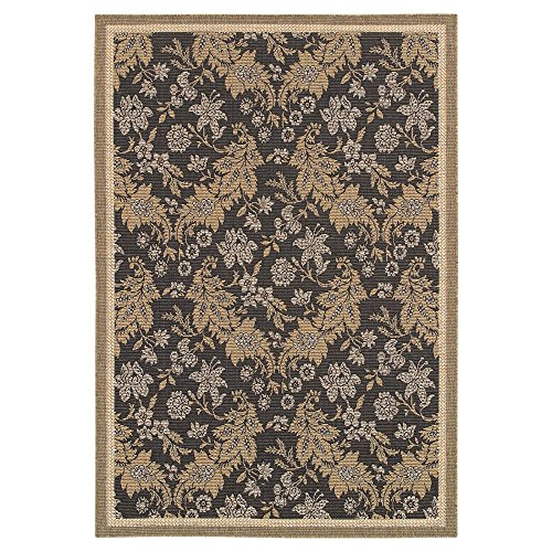 Couristan 2481/1812 Monaco Palermo Area Rugs, 7-Feet 6-Inch by 10-Feet 9-Inch, Black
