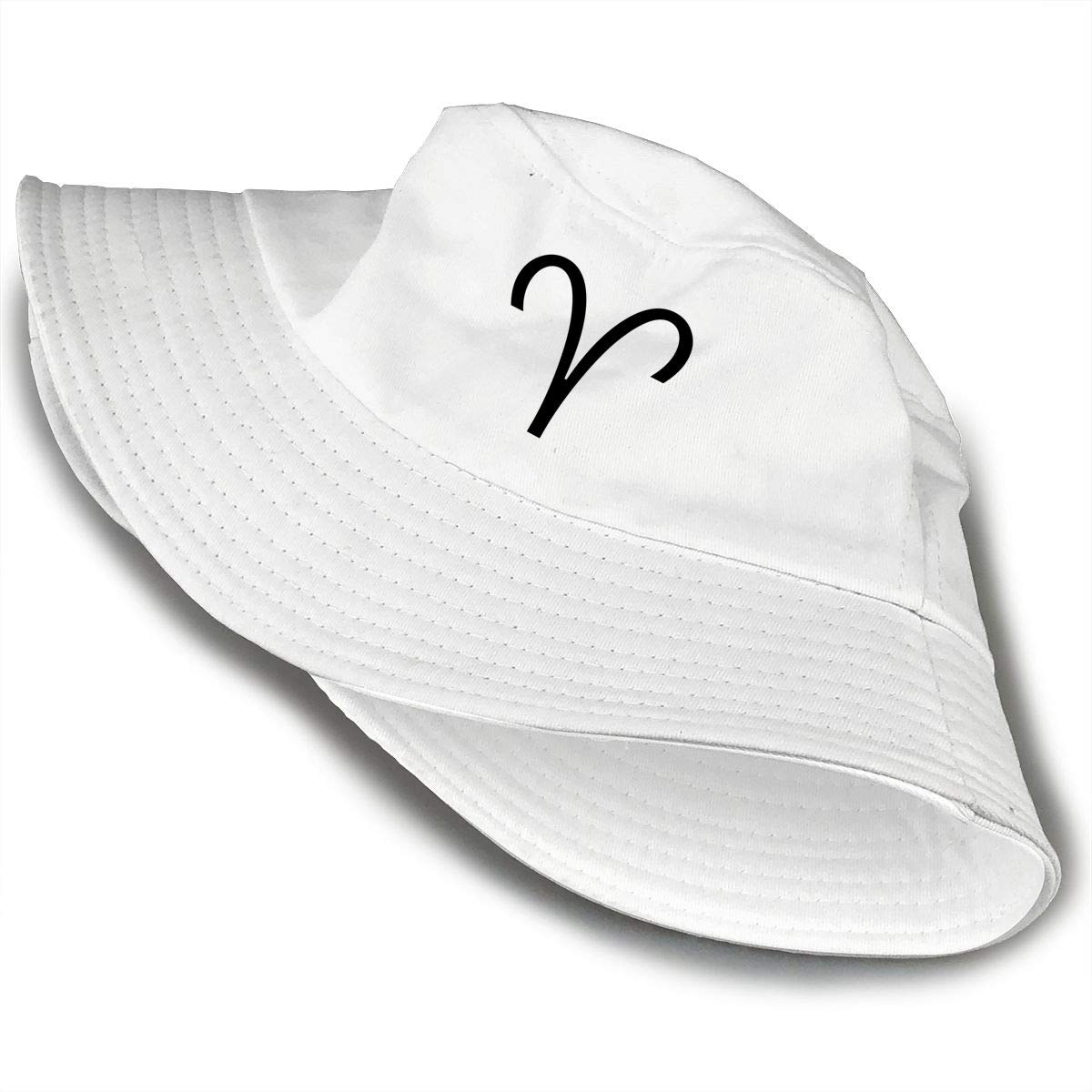PPAN Aries Unisex Cotton Packable White Travel Bucket Hat Fishing Cap