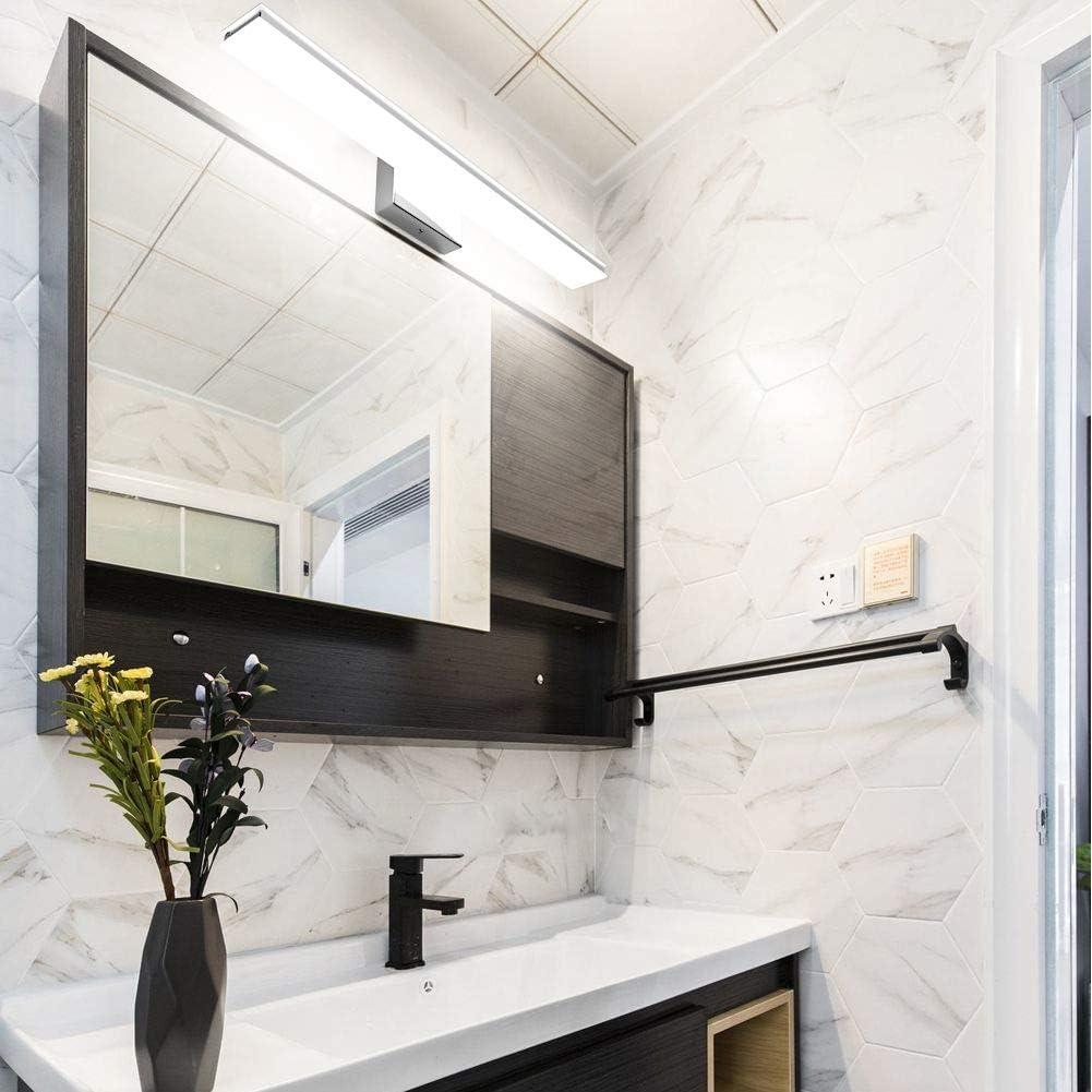 l/ámpara de ba/ño LED dormitorio 2000 LM 6000K blanco fr/ío Klighten l/ámpara de espejo 20W 60CM l/ámpara de espejo de ba/ño l/ámpara para espejos