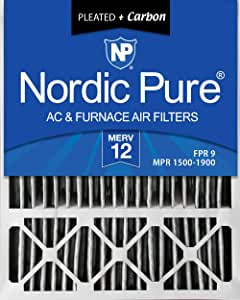 Dust Reduction Replacement AC Furnace Air Filters 3 Pack Nordic Pure 24x24x1 MPR 1085D Micro Allergen Extra