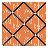 Sweet Jojo Designs Orange and Navy Fabric Memory/Memo Photo Bulletin Board for Arrow Collection