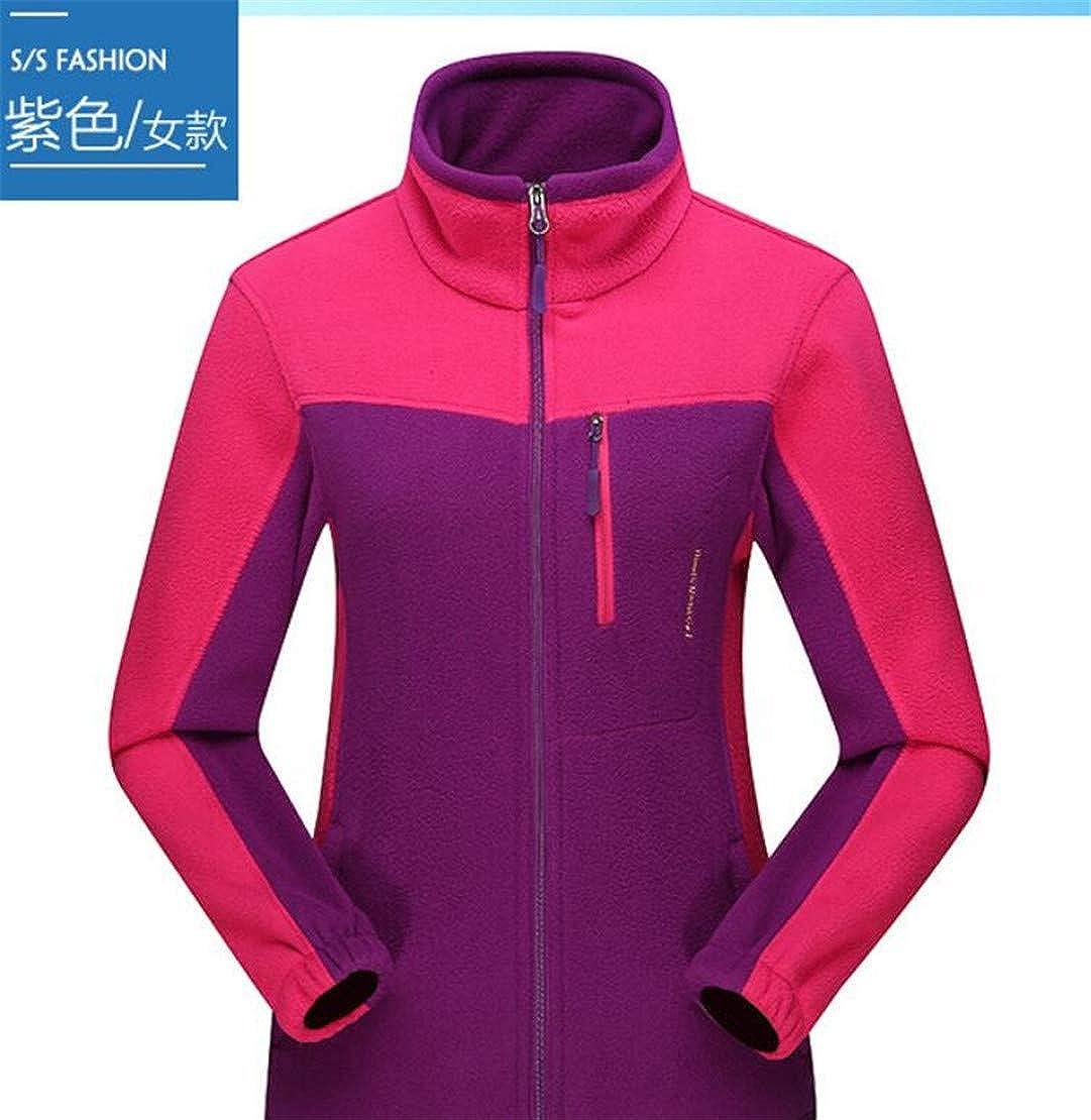 Hmarkt Womens Winter Stand Collar Windproof Mountain Outdoor Fleece Jacket