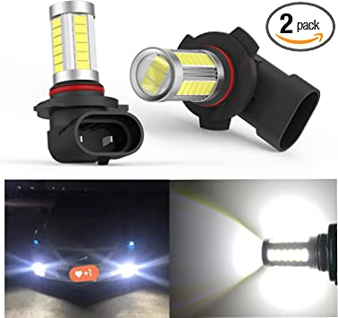 xSpeed H10 9145 9140 LED Fog Light Bulbs 3000lm Extremely Bright flexible LED 360 Beam Angle 9045 9155 9040 PY20D Fog Light Bulb Replacement for Car Truck Cool Xenon White 6500k