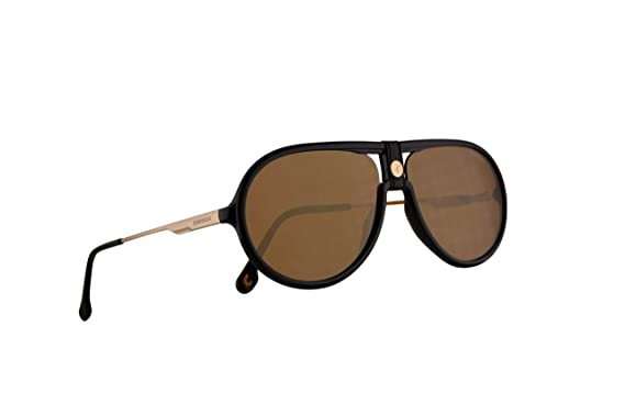 8ef079fe9605 Image Unavailable. Image not available for. Color: Carrera 1020/S Sunglasses  Black w/Brown Gold ...