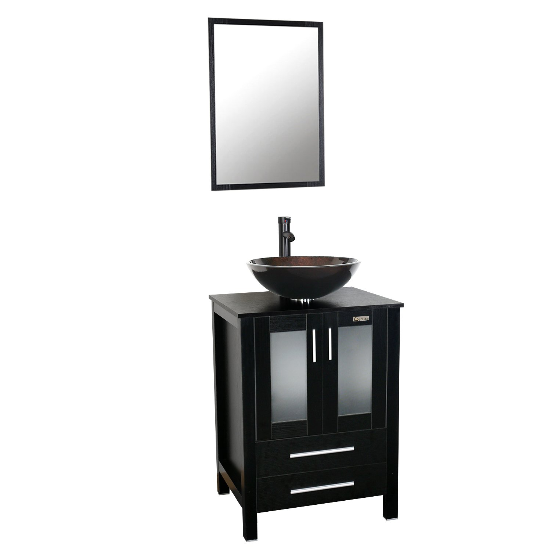 Eclife 24 inch Bathroom Vanity Combo Modern MDF Cabinet with Vanity ...