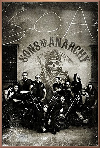 Sons Of Anarchy   Framed Tv Show Poster   Print  The Gang   Vintage   Retro Design   Size  24  X 36    By Poster Stop Online