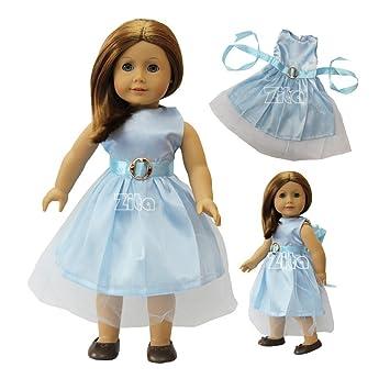 ZITA ELEMENT Vestido de Fiesta para Muñeca Americana chica de 18 Pulgadas y Otras Muñecas de