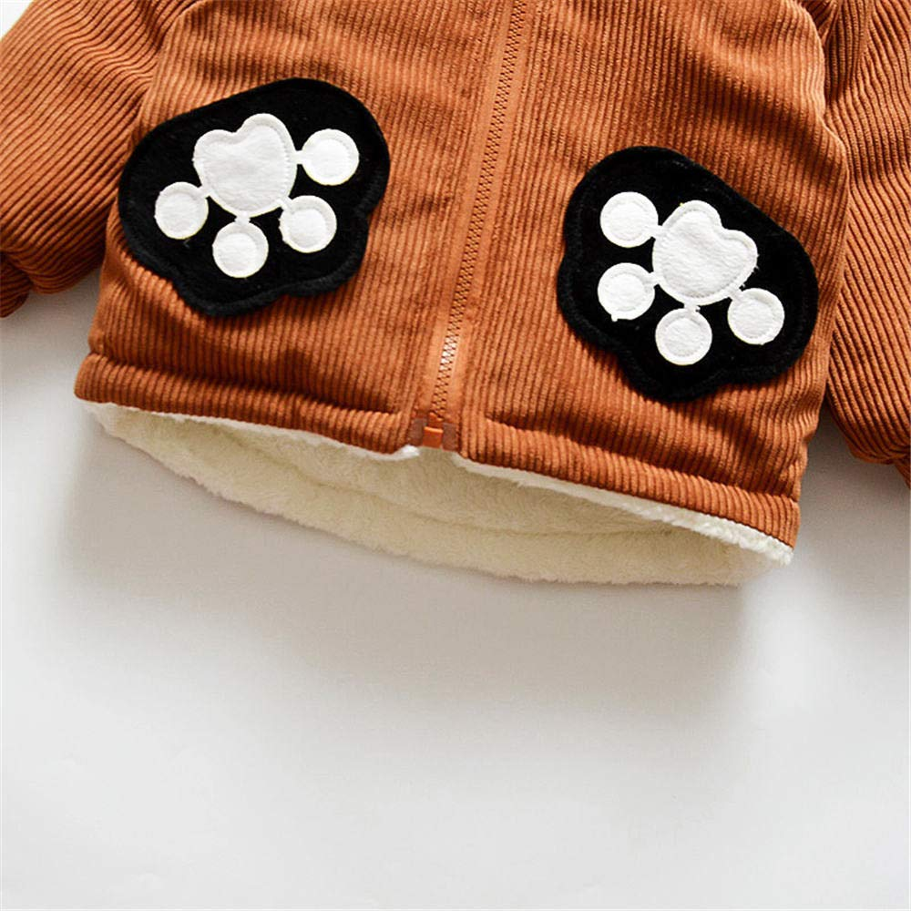 Dingji Toddler Baby Boy Girl Winter Warm Clothes Coat CuteCartoon Long Sleeve Hoodie
