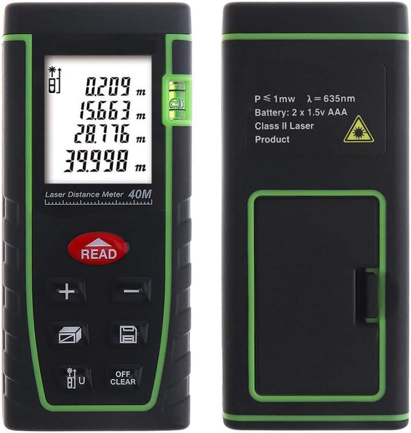 DT Telémetro láser medidor de Distancia láser de Alta precisión de medición 40m para la construcción de Carreteras y Diseño Industrial Casa