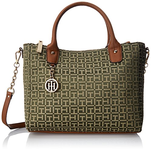 Tommy Hilfiger Sharon Jacq Large Shopper Shoulder Bag OliveKhaki One Size