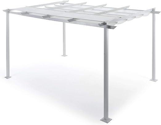 Taddi Pérgola de jardín retráctil 3 x 4 m de Aluminio Sug S Blanca ...