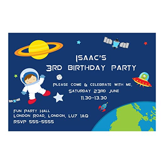 30 espacio astronauta planetas fiesta de cumpleaños ...