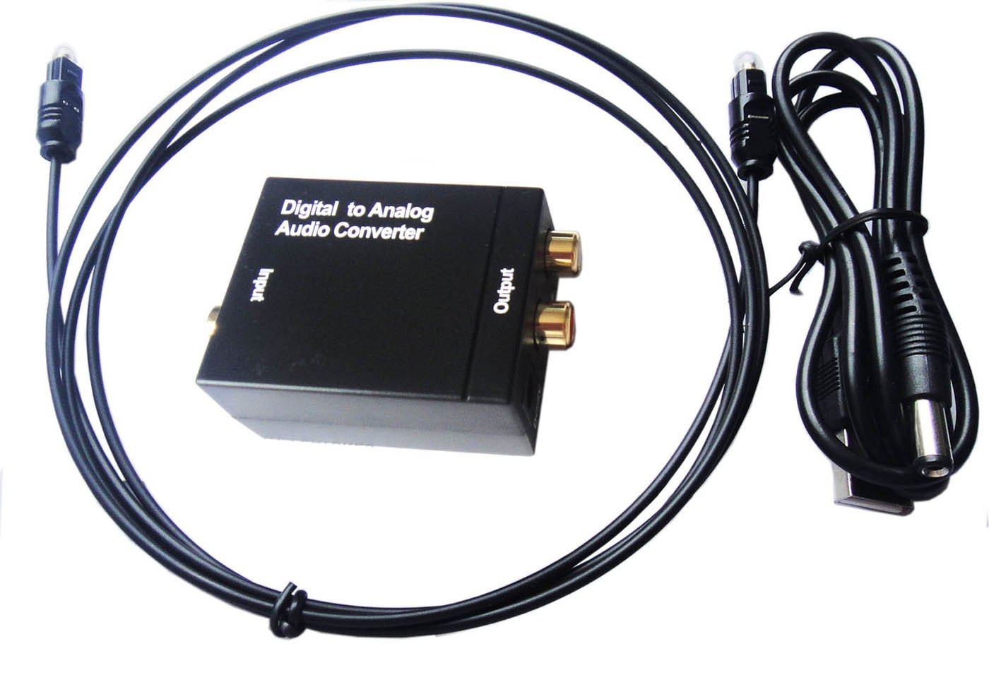SKN Digital to Analog Audio Konverter Wandler Adapter Toslink SPDIF Koaxial RCA R/L: Amazon.es: Electrónica