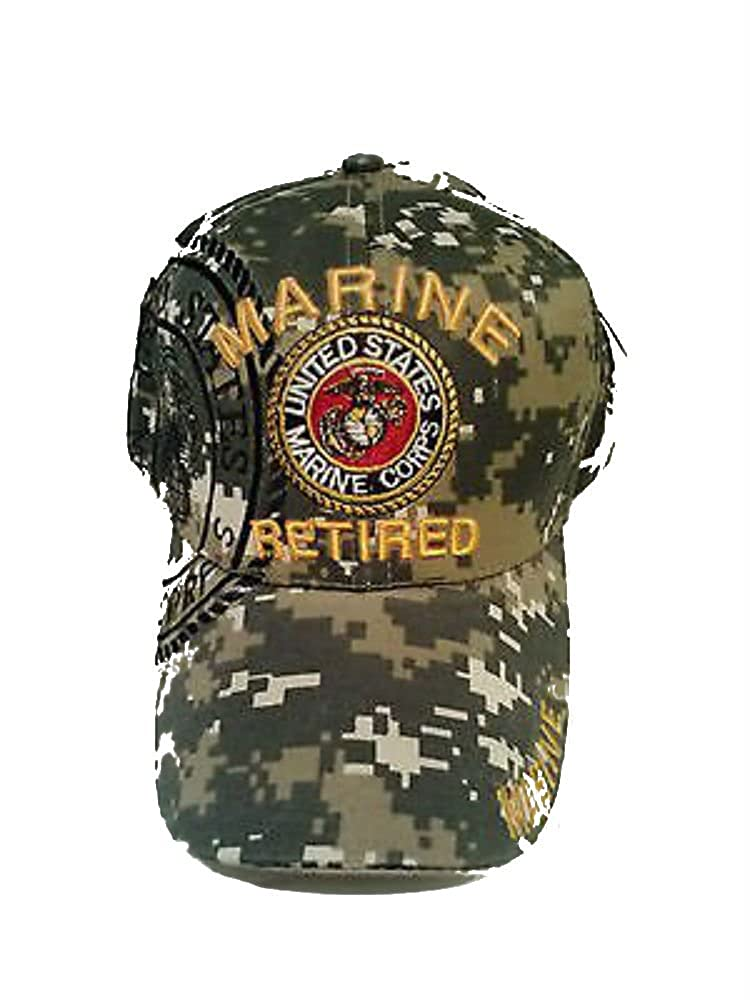 85fbecb1518 Embroidered ACU CAMO USMC Marines Marine Retired Veteran Baseball Hat Cap  at Amazon Men s Clothing store