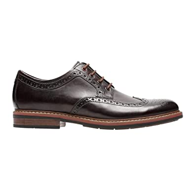 8d2a8c0edcac3 New Bostonian Men's Armon Wing Tip Dress Oxford Burgundy 8.5
