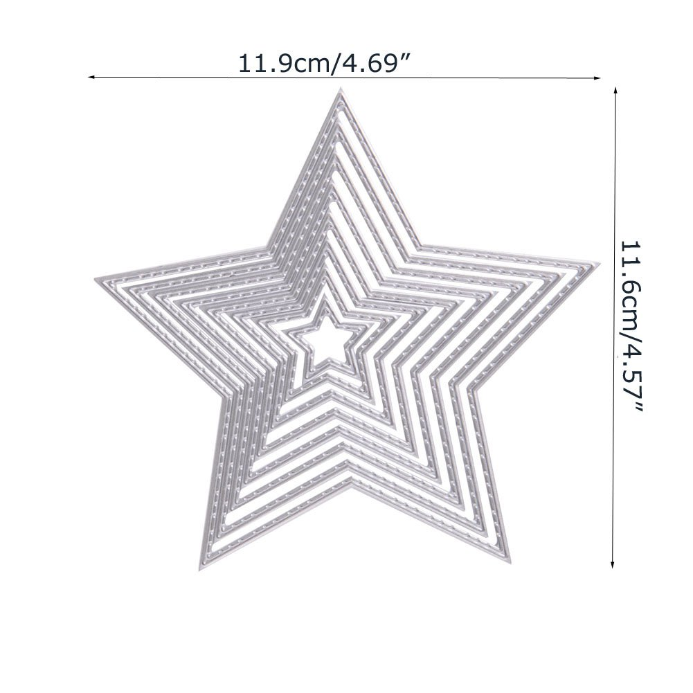 Creacin de lbumes de recortes Longsw Estrellas Metal DIY Stencil ...