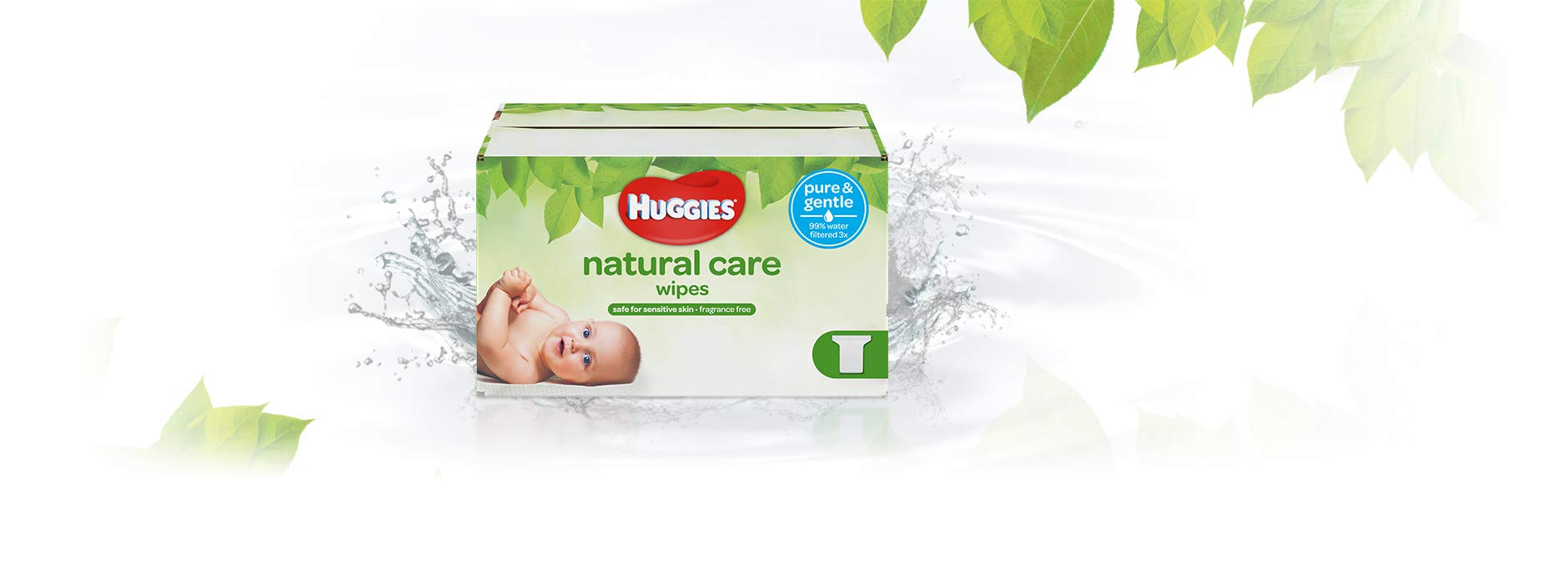Huggies Natural Care Unscented Baby Wipes, Sensitive, Hypoallergenic, Water-Based, 3 Refill Packs, 648 Count Total by HUGGIES (Image #2)