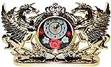Gold Double Unicorn Clock