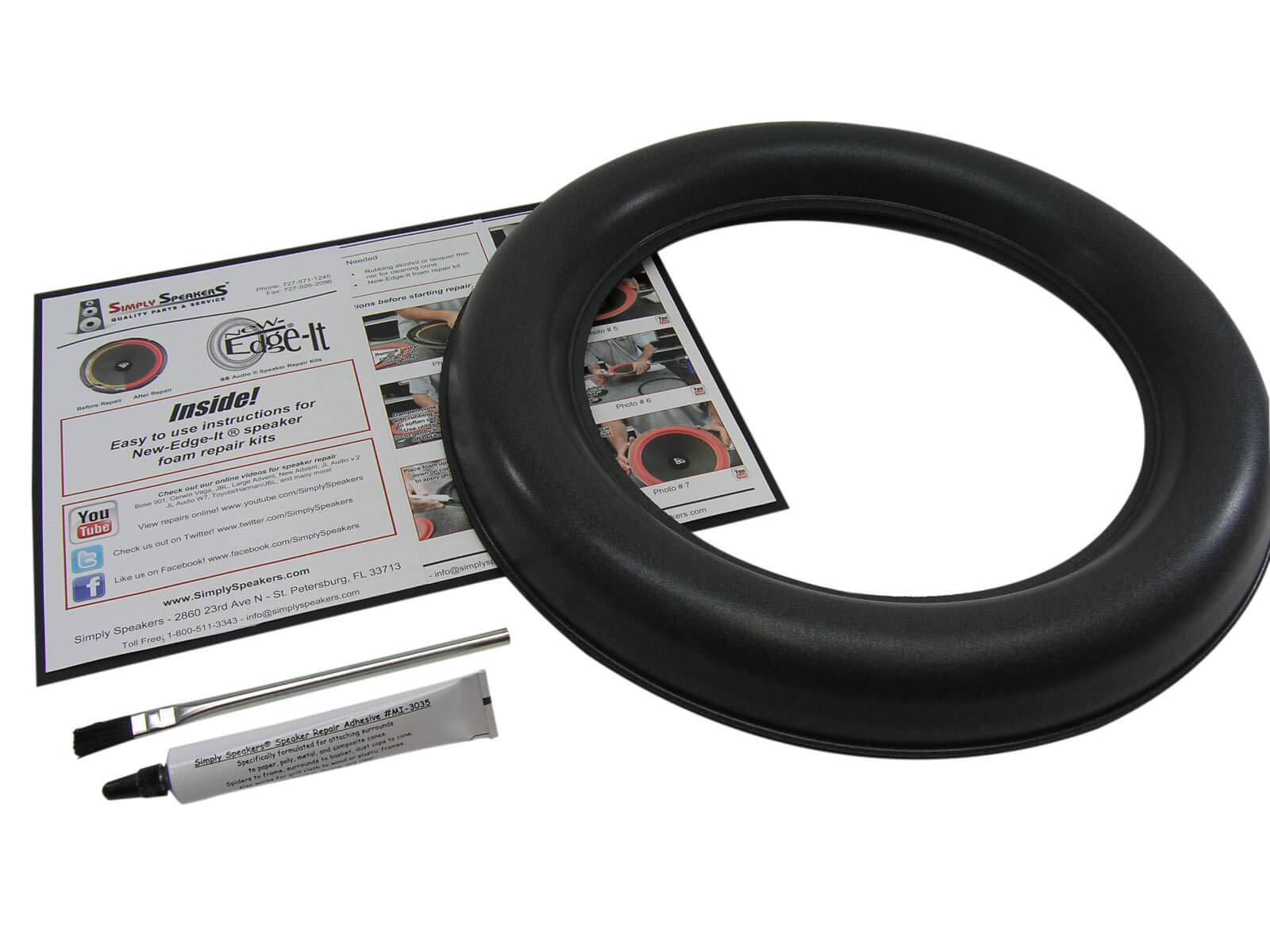 JL Audio Single 13.5 Inch 13W7 Foam Speaker Repair Kit, Super Wide Roll, 13W7, FSK-13JL-W7-1 (Single) by Simply Speakers