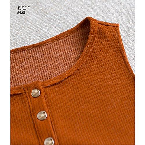 Simplicity Pattern 8435 Misses' Knit Bodysuit by Madalynne, Size XS-XL (One Size)