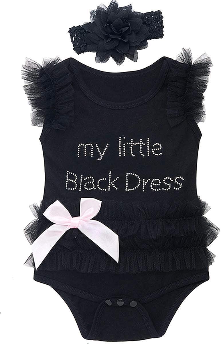 COSLAND Infant Baby Girls' Lace Tutu Dress Bodysuits with Headband