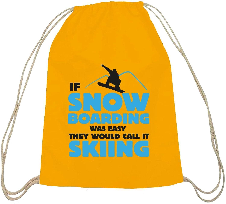 If Snowboarding Was Easy, Wintersport Après Ski Baumwoll natur Turnbeutel Rucksack Sport Beutel