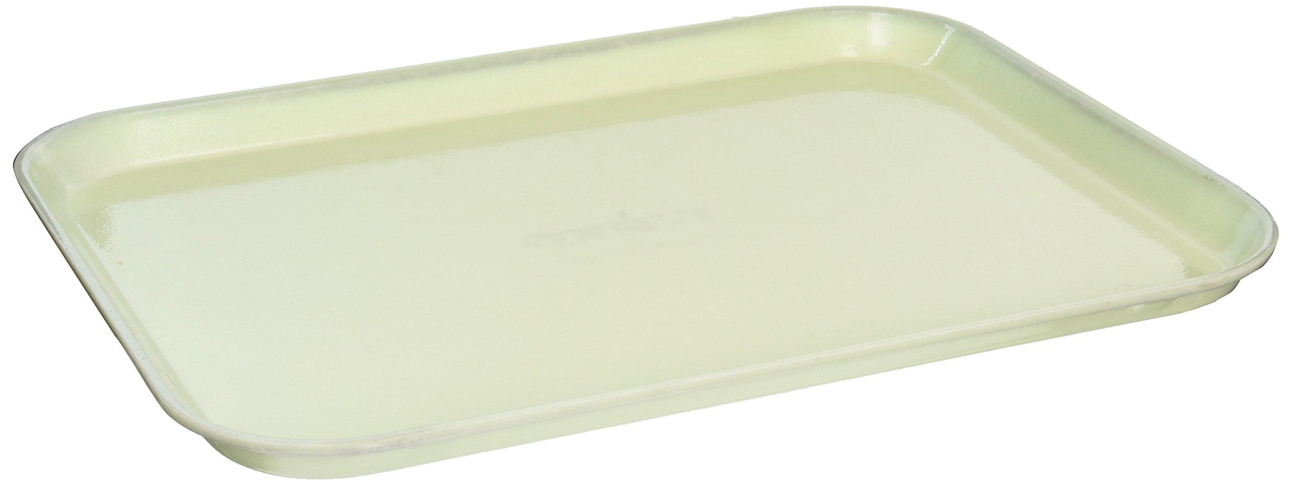Winco FGT-1418C Rectangular Fiberglass Tray, 14-Inch by 18-Inch, Cream