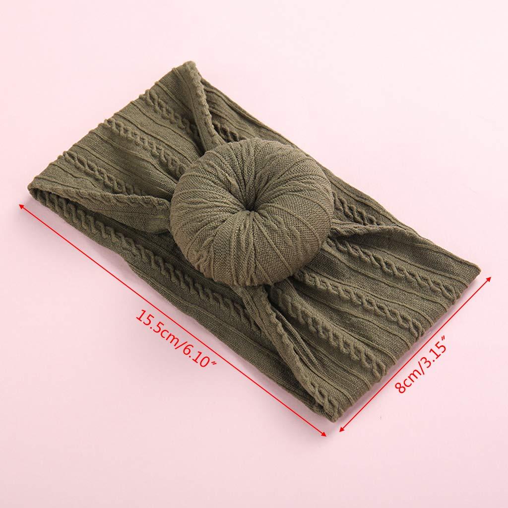Rryilong Stirnband Haarband Kopfband Baby Kinder M/ädchen,Elastisch Weich Donuts Turban