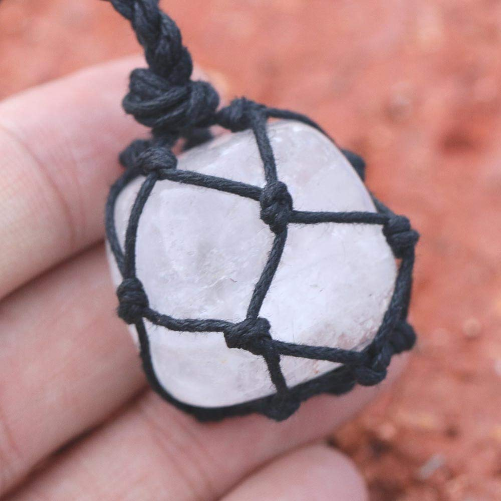 Metal Color: Lapis, Length: 50cm Adjustable Davitu Natural Stone Men Necklace Wire Hemp Wrap Pendant Macrame Boho Jewlery B61 2526mm Irregular Shape