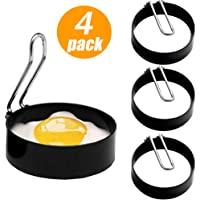 FireKylin Stainless Steel Egg Ring,4 Pcs Round Pancake Mould Omelette Mold Frying Egg Cooking Tools Kitchen Accessories Gadget