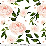 Changing Pad Cover - Blush Roses