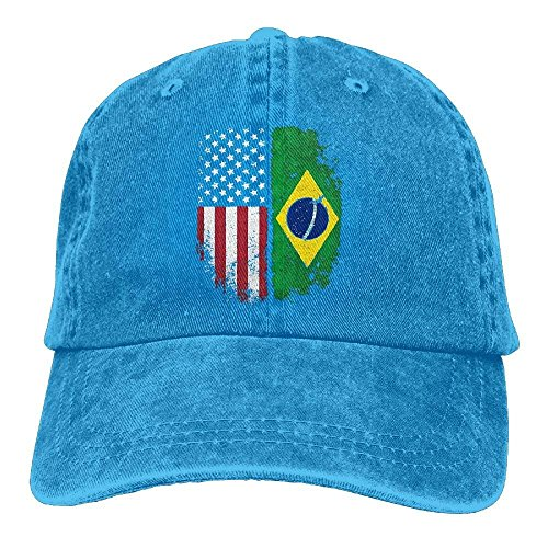 Gorras Brazilian Men zengjiansm Rapper béisbol Baseball Adjustable American Flag Street Women Denim Hat Hat Vintage Fabric TwqqREdX