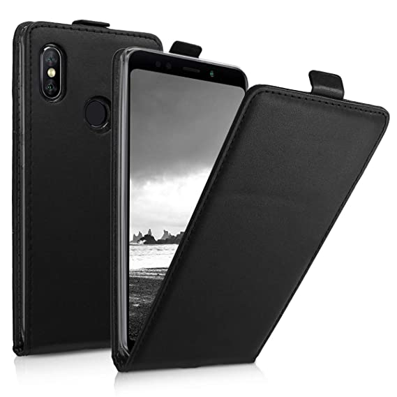 the best attitude dc449 22fa9 Amazon.com: kwmobile Vertical Flip Case for Xiaomi Redmi Note 5 ...