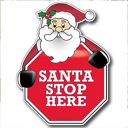 Santa parada aquí - señal de stop