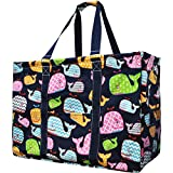 Sea Summer Whale Print NGIL Mega Shopping Utility Tote Bag