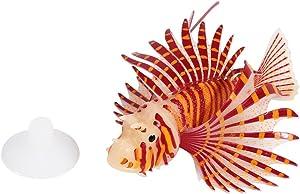Yosoo Artificial Lion Fish Luminous Fake Fish Aquarium Fish Tank Ornament Glow Simulation Animal Decoration (Red)