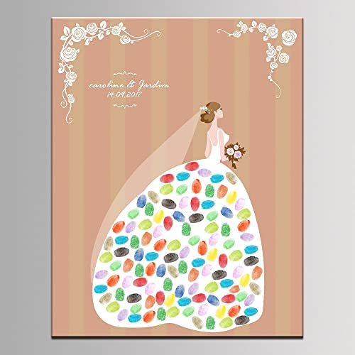 fingerprint tree wedding bridal shower wedding shower personalized gift custom print name date