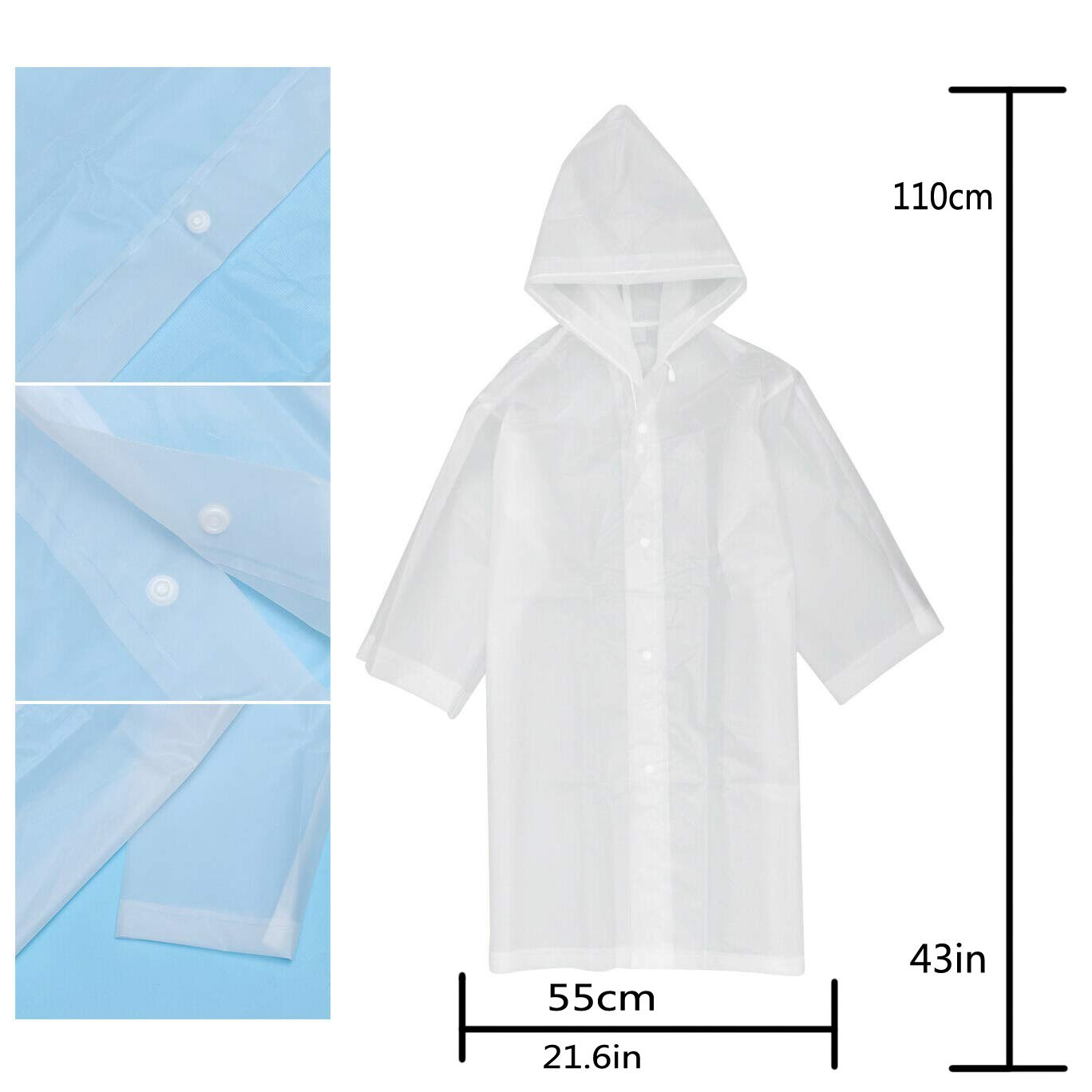 Poncho Suitable for 6-12 Years Old liwang Childrens Raincoat Waterproof Raincoat