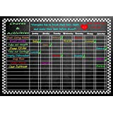 "Versatile Magnetic Refrigerator Chalkboard Dry Erase CHORE / RESPONSIBILITY / ACTIVITY / REWARD STAR CHART 11.5"" X 16.5"""