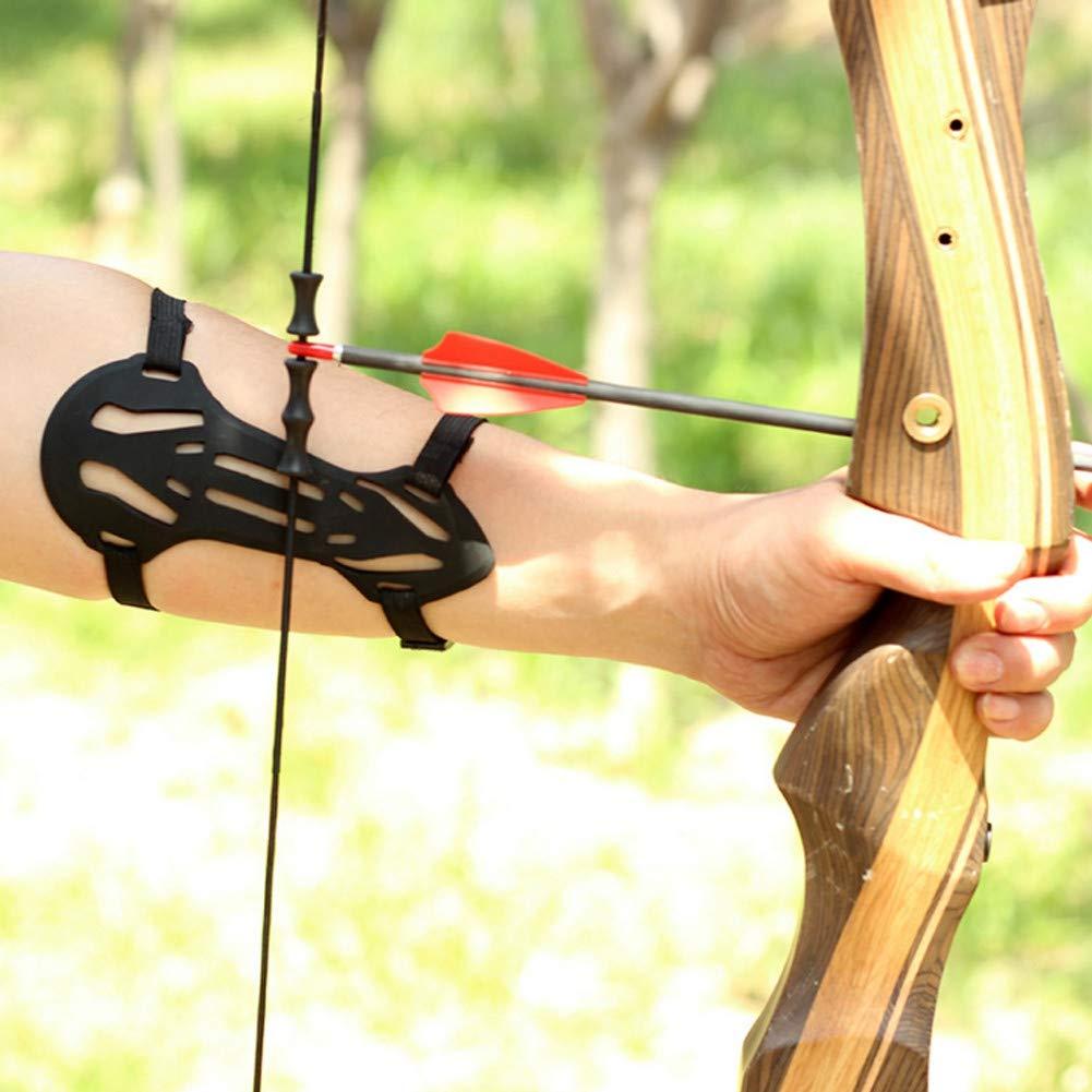 SimpleMfD Arc Tir /à larc Fl/èche Garde-Bras Caoutchouc Doux 2 Sangle Cible Cible Protecteur Avant-Bras Protecteur Tir /à larc Prot/ège-Bras Protection Sangle Brassard