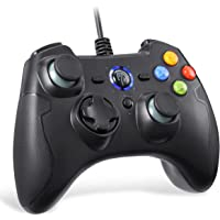 PC Controller Wired, EasySMX Wired USB Game Controller Joystick Dual-Vibration Turbo Trigger Buttons Windows/Android…