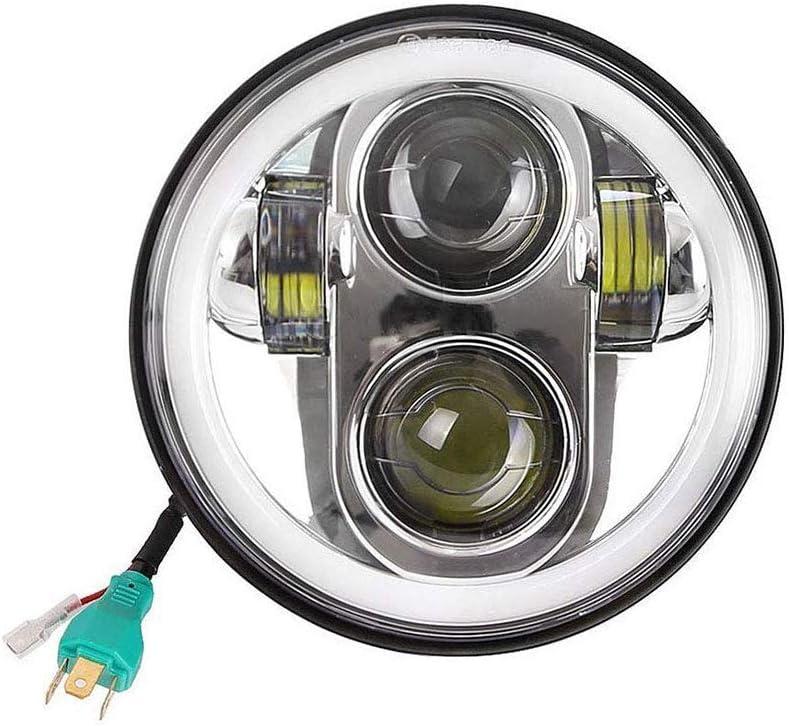 5,75 Zoll Runden Daymaker 45w Heiligenschein LED Scheinwerfer Engel Augen Lampe zum Harley Motorrad
