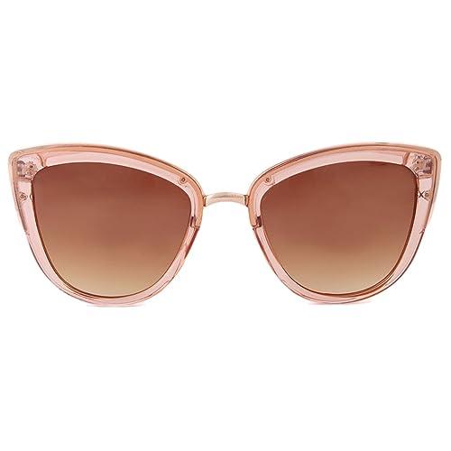 Gafas de sol mariposa estilo retro Charly Therapy - Romea gafas de sol oversized para mujeres transp...