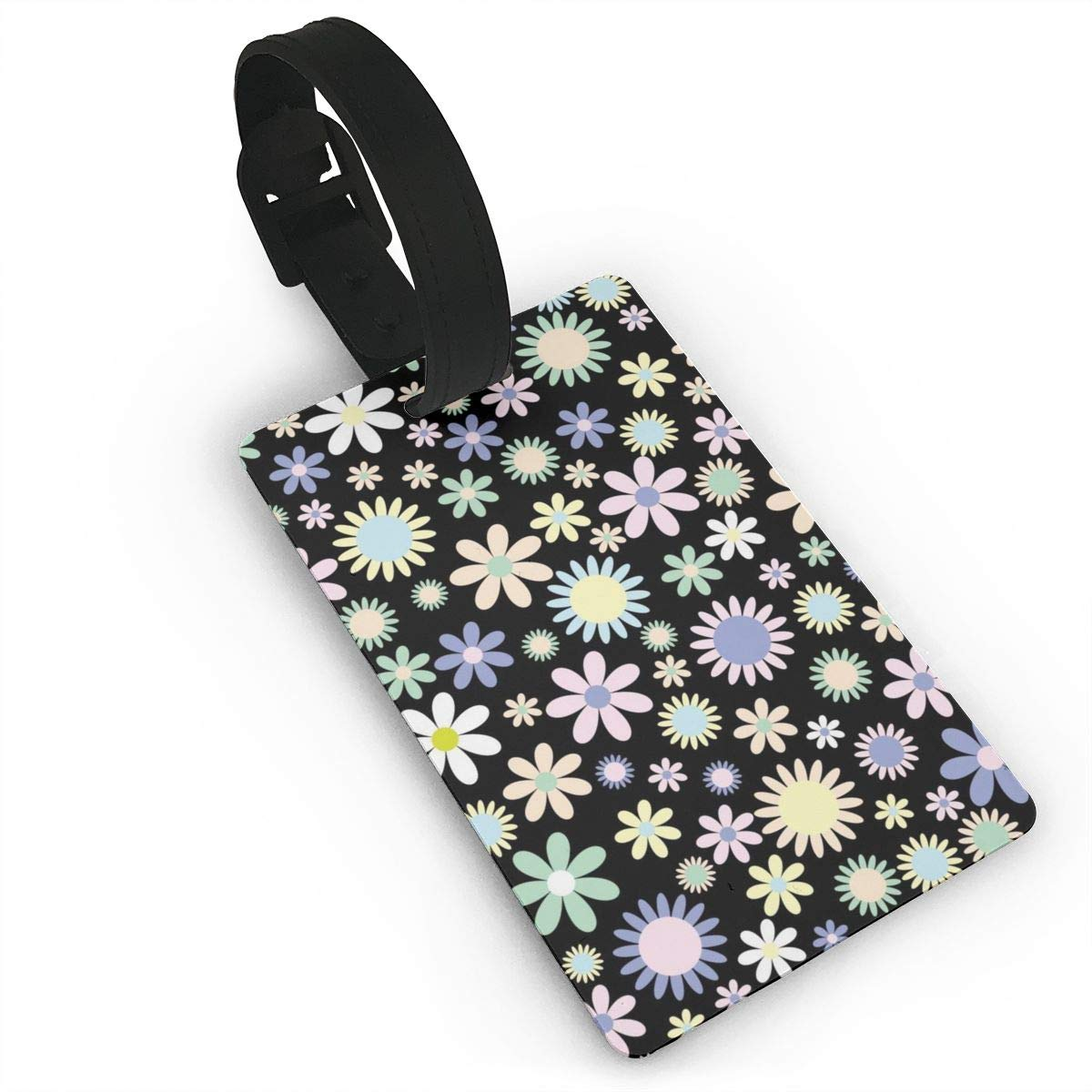 Amazon Com Yunshm Flowers Floral Pattern Background Luggage Tags