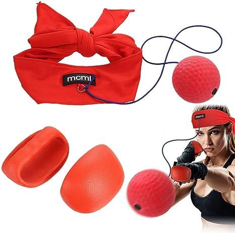 AHCSMRE Guantes de Boxeo de Perforadora de Reflex Bola Kit de ...