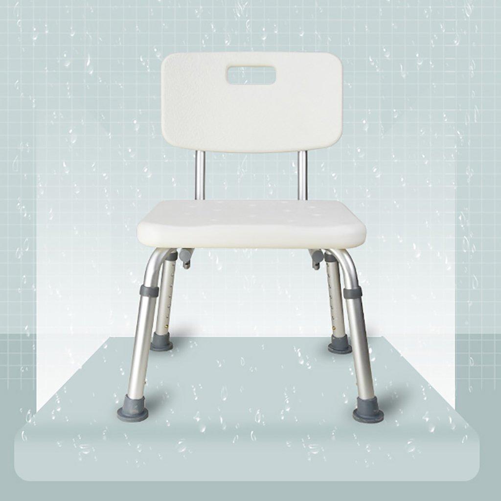 バスルームのスツール背もたれノンスリップ高齢者のバススツールシャワーチェア妊婦のバスルームの椅子大人の靴のベンチパーティーベンチ (色 : 1) B07DLQXVZR 1 1