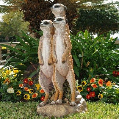 Design Toscano Statue Meerkat Gang (Sculpture Wild Animal Statue)